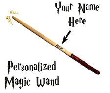 10 inch Magic Wand Personalized Wizard Wand Harry Potter Hermione Shipping Free