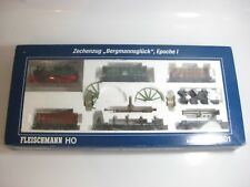 FLEISCHMANN HO GAUGE 490501 COLLIERY TRAIN MINERS LUCK LIMITED ED. DCC FITTED!