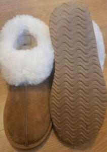 Womens Redfoot Tan Sheepskin Slippers size 4 UK 37 EU