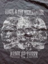 VIRGIL & THE ACCELERATORS – ''T-SHIRT/ ARMY OF THREE TOUR''. HAND SIGNED (2014).