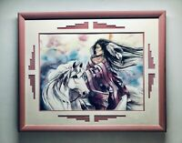 "Jan Taylor ""Heart Song"" Original MATTED & FRAMED Pink - Southwestern Art"