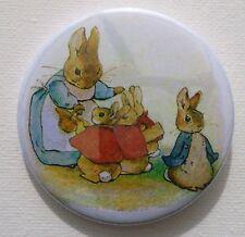 Bunny Rabbit Espejo De Bolsillo Maquillaje Espejo Peter Rabbit y Familia madre Bunny
