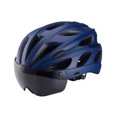 RockBros Cycling MTB Road Bike Helmets With Polarized Sunglass and Visor Blue