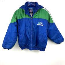 Vintage NFL Seattle Seahawks Genuine Stuff Jacket L 14-16 Youth Puffer Hoodie