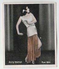 1930s German Dance Floors Of The World Tobacco card #022 Anny Werner