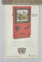 Pokemon Red Gameboy RARE Print Advertisement