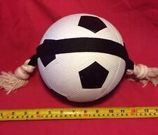 Dog Toy Action Ball 7 Inch Size 3 & Rope TOUGH TOY