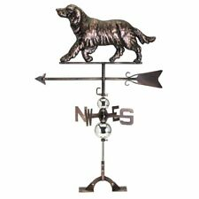Retriever Metal Weathervane Dog Rooftop Decoration Weather Vane Copper Finish