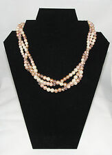 Avon Rose Pearlesque Statement Necklace