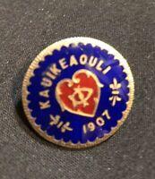 14K Gold Hawaiian KAUIKEAOULI  1907  Pendent Rare