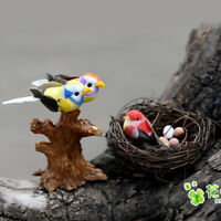 1Pc Cute DIY Miniature Fairy Garden Little Bird/Egg/Nest Micro Landscape Decor