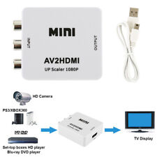 RCA AV To HDMI HDTV Converter For Nintendo NES SNES N64 Gamecube Sega Genesis