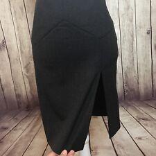 EMPORIO ARMANI Size 10 Skirt Grey Pleats Pencil Career Work Knee Length