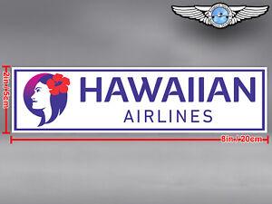 HAWAIIAN AIRLINES RECTANGULAR NEW LOGO DECAL / STICKER