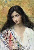 """high quality oil painting handpainted on canvas """"russian beauty """""""