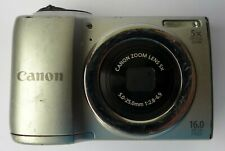 Canon PowerShot A810 16.0MP Digital Camera Silver,FAULTY for spares Parts Repair
