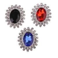 3Pcs Crystal Rhinestone Buttons Flatback Wedding Embellishment Sewing Crafts