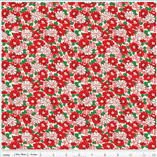 Riley Blake Penny Rose Hope Chest Floral Red 100% cotton Fabric by the yard
