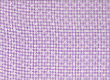 Lilac / White Checked Floral Polycotton Fabric