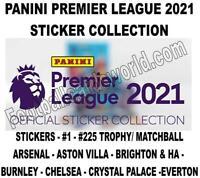 PANINI PREMIER LEAGUE 2021 STICKER COLLECTION - #1 - #225 (Arsenal - Everton)