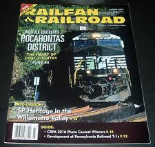 RAILFAN & RAILROAD MAGAZINE ~ MARCH 2017 ~ POCAHONTAS DISTRICT COAL COUNTRY +++