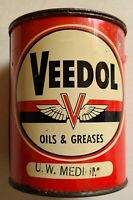 Vintage Tidewater Oil Company VEEDOL OIL & GREASES 1lb METAL Flying A Can
