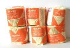 Yarn - Bucilla 100% Acrylic Pre-Cut Rug Yarn - Light Yelow Color - Lot Of 6 New