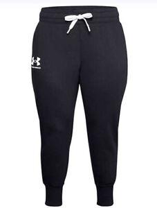 Under Armour Women's Rival Fleece Plus Size Joggers Sz. 3X NEW 1357035-001