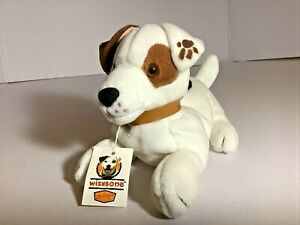 """Wishbone Plush Dog Jack Russell Terrier 1998 Denny's w/tag 7"""" long"""