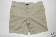 TOMMY HILFIGER WOMENS KHAKI CHINO FLAT FRONT SHORT SIZE 6 NEW WITH TAG