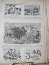Vintage Print,ARTIST ON PLAINS,Harpers,1875