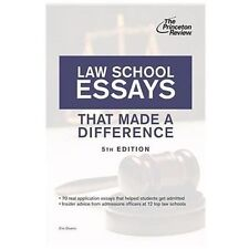Law School Essays That Made a Difference, 5th Edition (Graduate School Admission