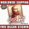 jesus had a mullet car sticker / decal ratlook funny 95x 90mm