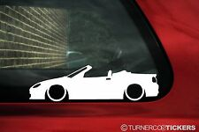 2x LOW MG TF 160 roadster / Convertible Outline car stickers, Decals