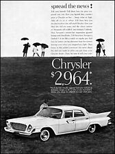 1961 Chrysler Newport Car firebolt V-8 umbrellas vintage photo print ad adl90