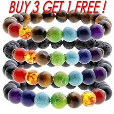 7 Chakra Healing Beaded Bracelet Natural Lava Stone Diffuser Bracelet Jewelry GO
