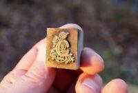 antiker Stempel Metallstempel Klischee Druckmatritzen Buchstabe G Sammlerstücke