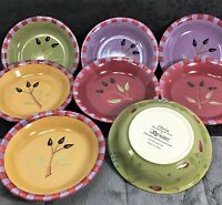 8 Vtg Signature OLIVIA Segura Dipping Bowls Monkey Dishes Red Gold Purple Green