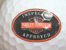 (1) HARLEY DAVIDSON MOTOR CYCLES  LOGO GOLF BALL INSPECTED & APPROVED