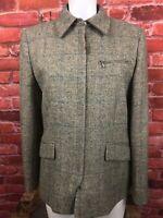 Ralph Lauren 10 Shetland Wool Equestrian Herringbone Blazer Hacking Jacket (R2)