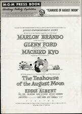 TEAHOUSE OF THE AUGUST MOON pressbook, Marlon Brando, Glenn Ford PLUS POSTER