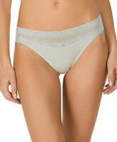 Natori Women's Bliss Perfection Lace Trim Thong Panty, Pear Green - One Size NWT