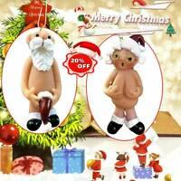 Naked Santa Xmas Decoration Funny Hanging Tree Ornament Christmas Comedy*2020