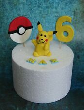 POKEMON PIKACHU edible handmade personalised birthday cake topper unofficial