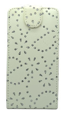 WHITE FASHION DIAMOND BLING FLIP CASE FOR SAMSUNG GALAXY ACE S5830 (2011) UK