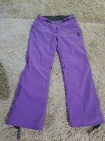 Scott Outerwear Snow Pants Ski Snowboard Adjustable Waist Trousers purple size 2