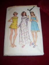 1972 SIMPLICITY 5030-LADIES RETRO GRANNY STYLE NIGHTGOWN-BABY DOLL PATTERN 12-14