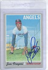 Jim Fregosi 1970 Topps #570 Autographed Baseball Card California Angels DECEASED