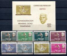 PARAGUAY 1963 Sport Olympiade Olympics de Coubertin 1168-1175 + Block 35 ** MNH