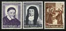 Vatican 295-7 MNH St Vincent de Paul, St Louisa de Marillac